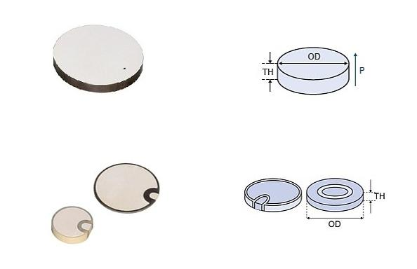 High Purity ZrO2 Zirconia Ceramic Disc Capacitor / Alumina Ceramic Seal Disc