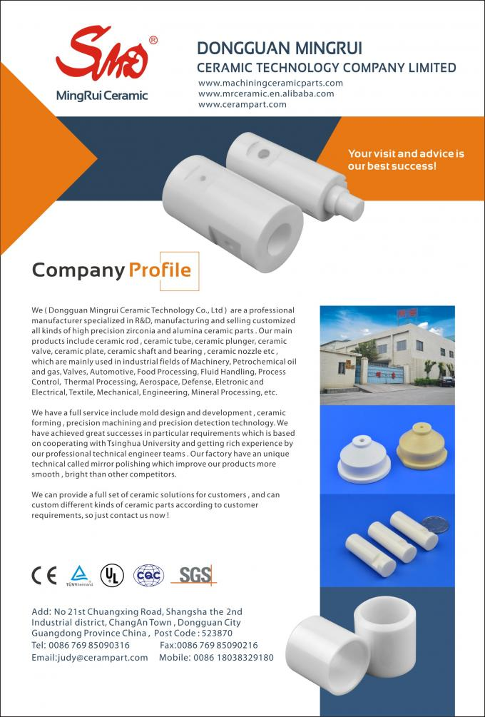 Zirconia Ceramic Roller Precision Ceramic Components For Textile Machine , Fine Smooth Surface