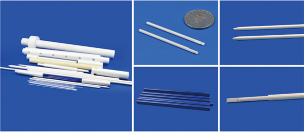 Wear Resistant Zirconia Ceramic Rods 10mm For Medical Equipment Good Surface