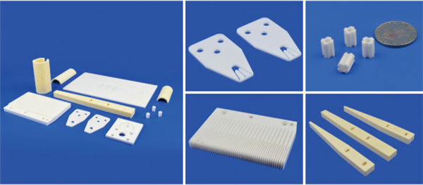 ISO Zirconia Ceramic Parts Machinable Ceramic Plate With Drilling Thread Through Hole