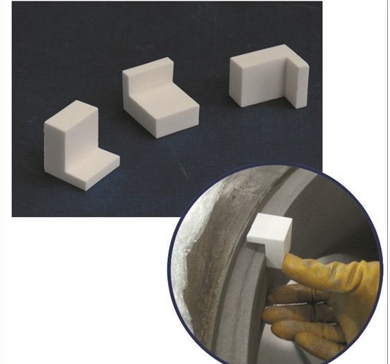 Custom Machinabe Ceramic Block ,  L Shape  Ceramic Block with Interlock
