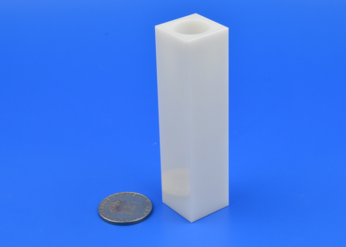 High Flexural Strength Square Ceramic Tube Zirconia Material High Hardness 0