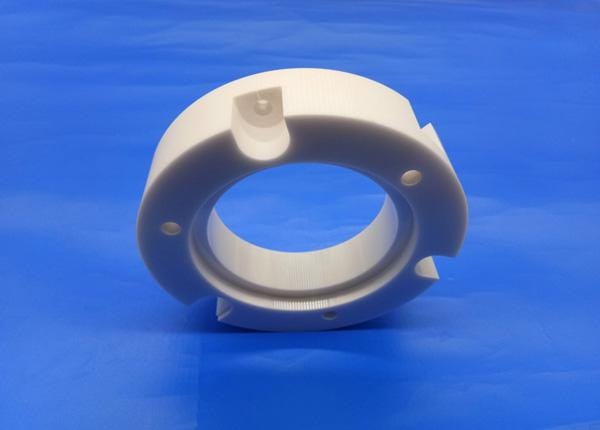 Industrial Zirconia 99 Al2O3 Ceramic Pipe Fittings Flange Bearings for Machine Parts