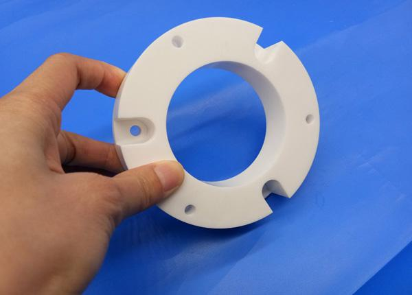 Industrial Zirconia 99 Al2O3 Ceramic Pipe Fittings Flange Bearings for Machine Parts 3