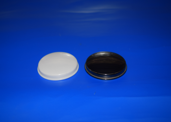 White / Black Zirconia Ceramic Parts Cap Fine Polished for Visual Appearance Surface