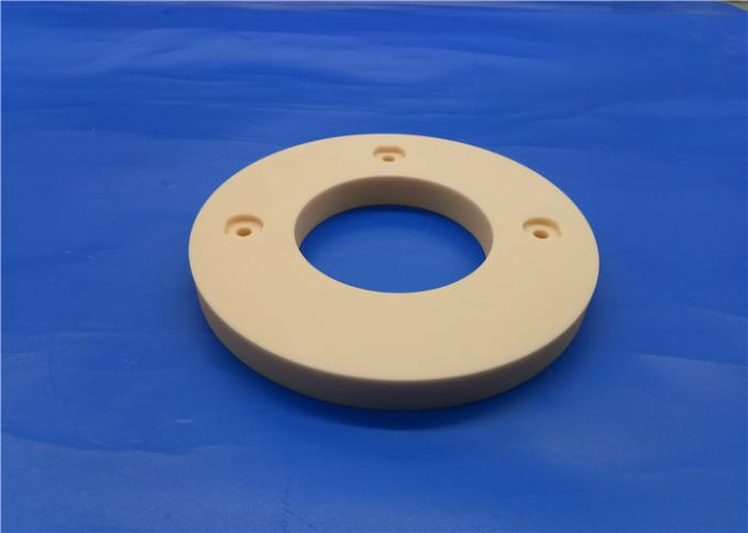 Precision 95%-99.7% Alumina Ceramic Flange Ring / Flange Pump / Insulating Flange 2
