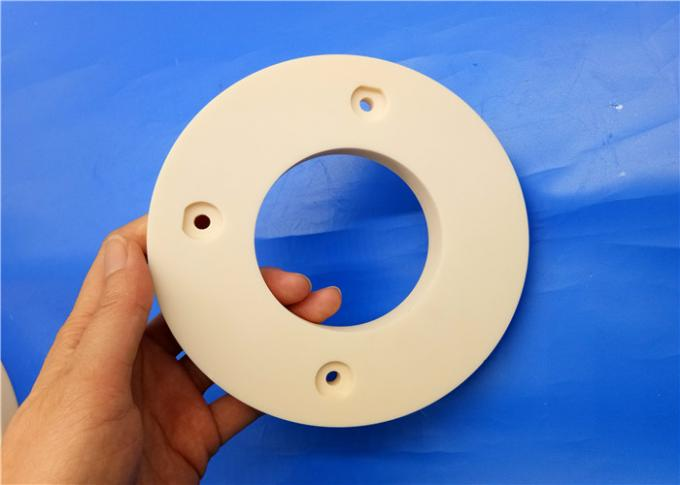 Precision 95%-99.7% Alumina Ceramic Flange Ring / Flange Pump / Insulating Flange 4