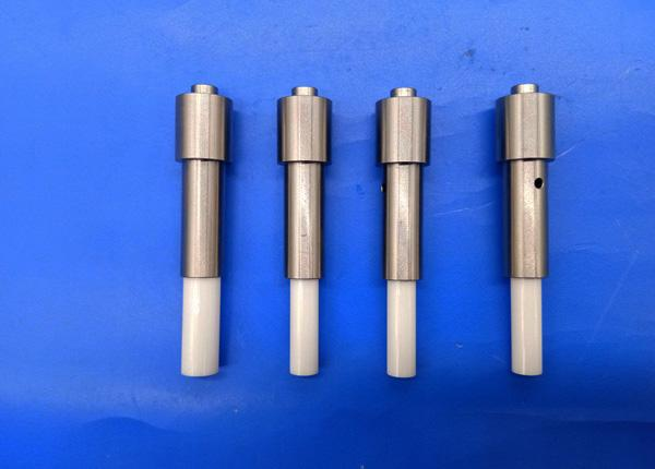 Al2O3 Alumina Ceramic Pin Gauge Set / Spot Welding Pin With Strong Impact Resistance