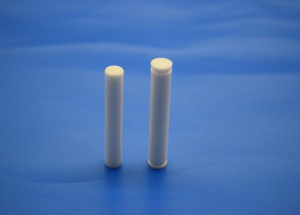High Hardness Polished Zirconia Ceramic Pin / Rod / Bar for Industrial Machine Parts