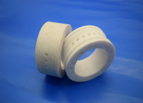 Sintered White Alumina Zirconia Ceramic Sleeve , Polished Aluminum Wheels Guide Pulley