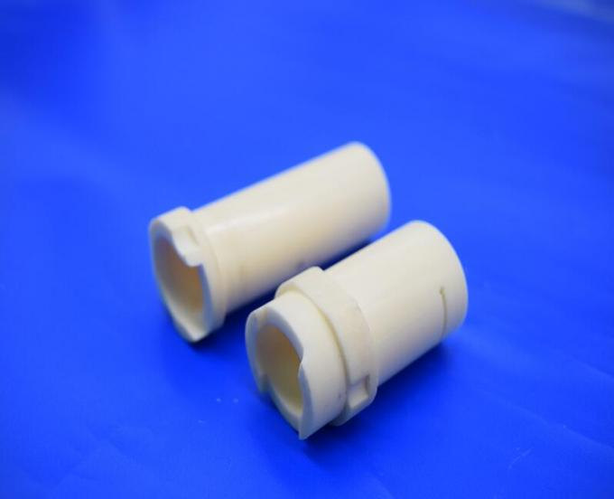 High Precision 99% & 95% Al2O3  White / Yellow Alumina Ceramic Sleeve Guide Tube Machining Different Equipment