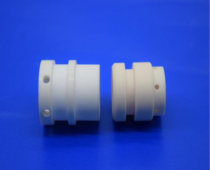 High Working Temperature Refractory 99% Al2O3 Yellow Ceramic Pipe / Tube / Pump With Small Hole