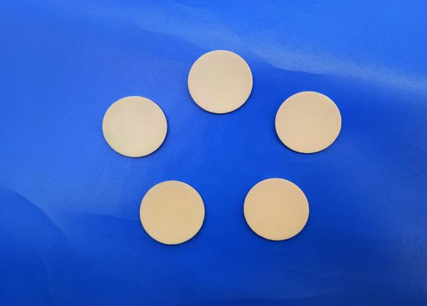 Insulation Resistant Alumina 99 Ceramic Led Wafer Parts / Rounds Al2O3 95% Spacer / Disk