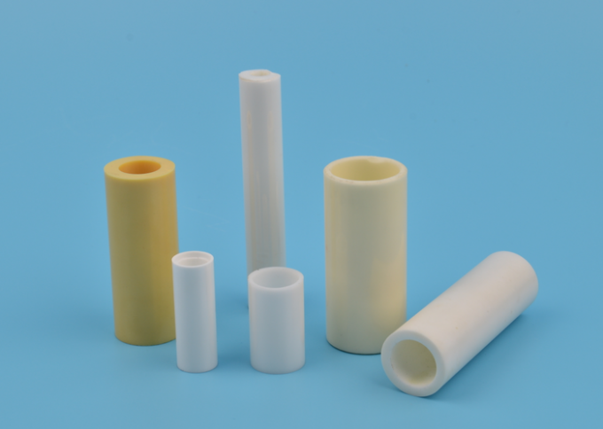 Unglazed 95% 99% Alumina Ceramic Tube For Ignition Electrodes / Burners Boilers