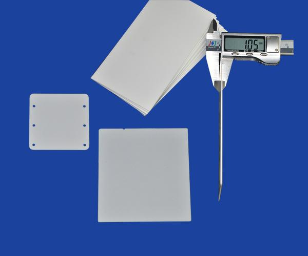 Polished Ultra Thin Ceramic Sheet Plate/ Multi Sizes Ceramic Disc  0.2 mm Thickness Machinables
