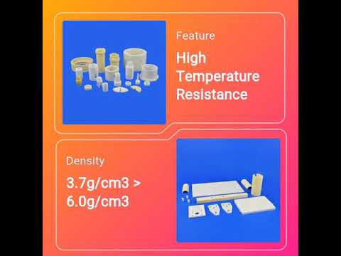 Precision Machining Ceramic Parts Alumina Zirconia Silicon Carbore Ceramic Spare Components for Equipments