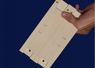 High Strength Porcelain Machinable Ceramic Block For Cyclone Liner Wear Resistance
