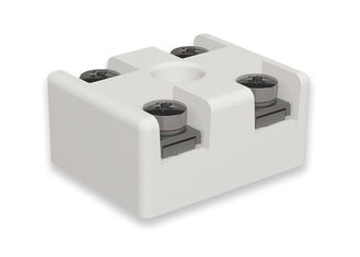 Electrical Connecting Machinable Ceramic Block , Porcelain Terminal Block Machining