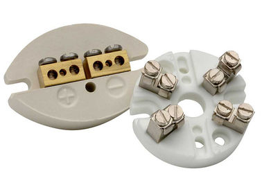 Thermocouple Machinable Ceramic Block / Industrial Porcelain Connector Block