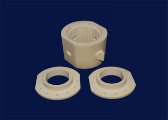 High Precision Components Alumina Ceramic Parts Base Cover Container With Hole