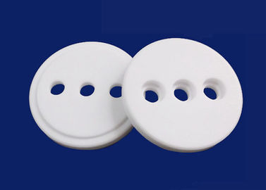 High Heat Resistant Insulation Alumina Round Ceramic Plates With Holes Stable