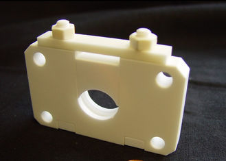 Thermal Insulating Machinable Ceramic Block , Custom CNC Machined Ceramic Components