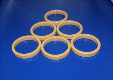 High Precision 95% - 99.5% Alumina Ceramic Seal Rings Yellow / White