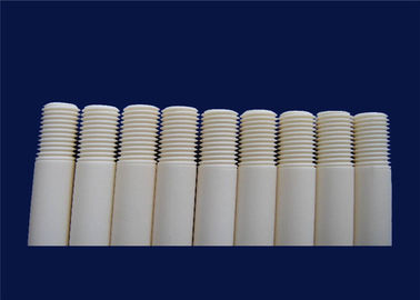Customized Machining Alumina Ceramic Threaded Rod High Corrosion