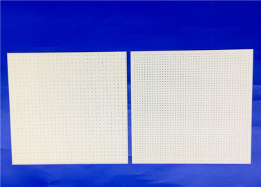 High Uniformity Square Alumina Ceramic Substrate with Holes / Multi Holes Alumina Sheet