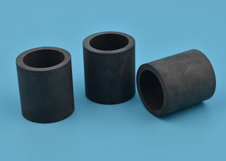Thermal Shock Resistant Black Ceramic Tube / Black Ceramic Sleeve Bushing