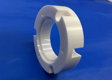 CNC Machining Zirconia Ceramic Flange Industrial Ceramic Parts High Precision
