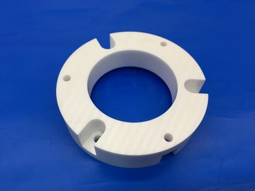 High Toughness White Zirconia Ceramic Parts Spacer with Holes Groove