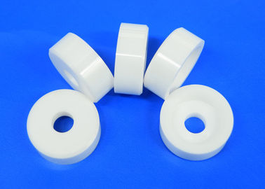 Alumina Zirconia Ceramic Sleeve Washer / Ceramic Sleeve Bushing Size Customized