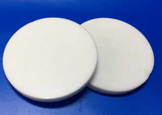 Alumina Zirconia Ceramic Wafer , Circular White Ceramic Plates For Insulation / Discs