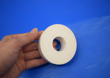 Wear Resistant Industrial Machine Parts , Zirconia Ceramic Parts Thick Wall Sleeve Size Customized