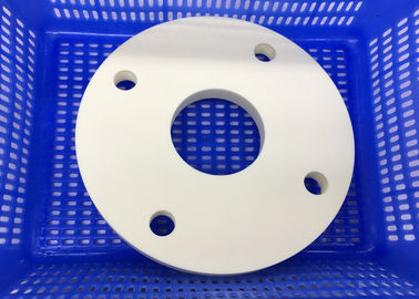 Insulating Round Circular Ceramic Plate / Ceramic Disc  with Thread Hole