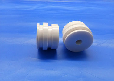 Precision Ceramic Components Zirconia Threaded Ceramic Cylinder / Sleeve / Bushing