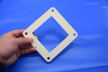 Chemical Resistance Alumina Ceramic Parts , 95% 99% 99.5% Alumina Ceramic Square Ring
