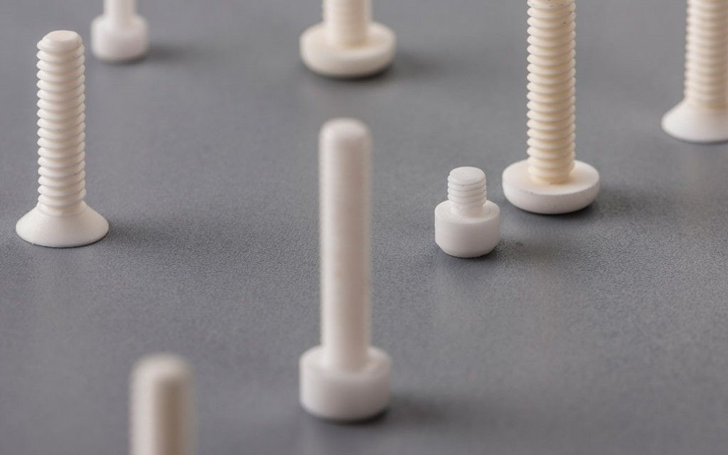 Alumina Ceramic Bolts and Nuts /   M8 M10 Ceramic Screw  Parts