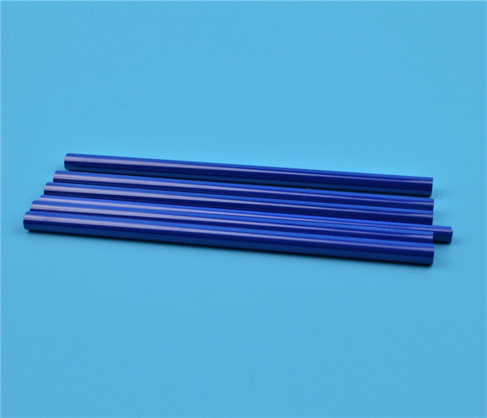 Blue Black Zirconia Ceramic Parts , High Precision Machining Sharpening Rod With Flat Position