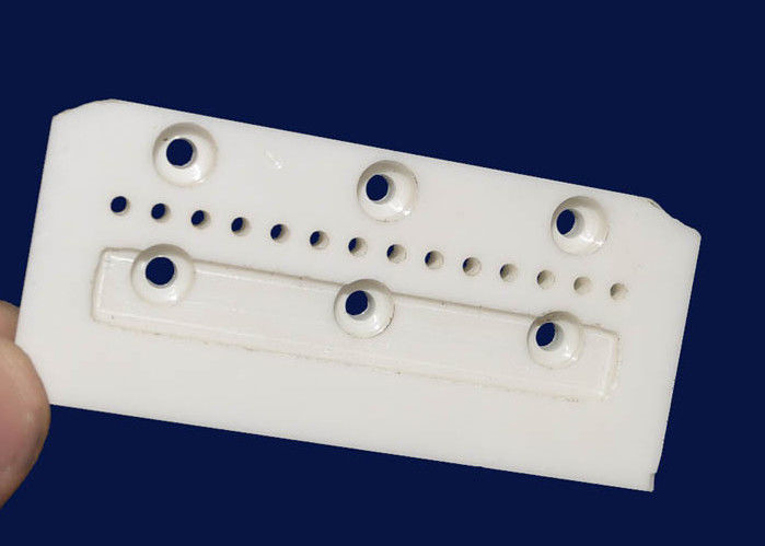 Industrial Ceramics Electrical Insulating Zirconia Ceramic Guide Block With Hole