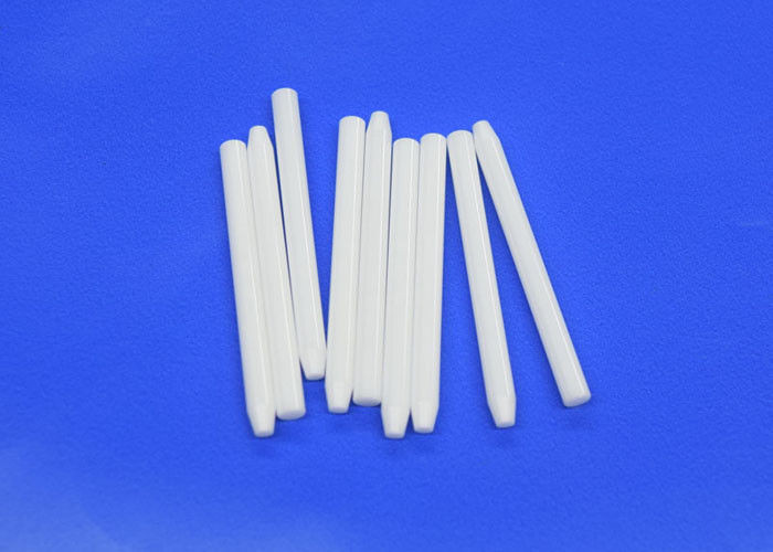 White Machinable Ceramic Rod , Zirconia Ceramic Sticks  /  Zirconium Rods