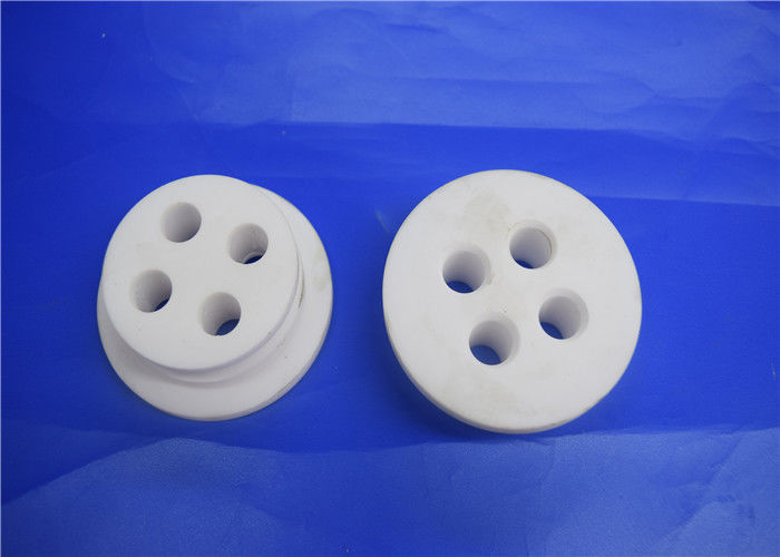 Alumina Ceramic Disc With Small Hole , High Temp Ceramic Terminal Housing Multiple