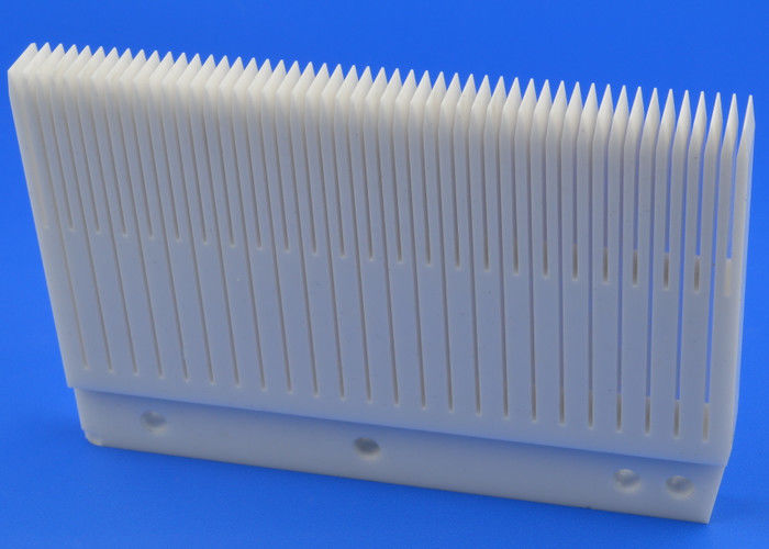 White Advanced Technical Ceramics Slotted Ceramic Wafer Boat For Wafer Carrier