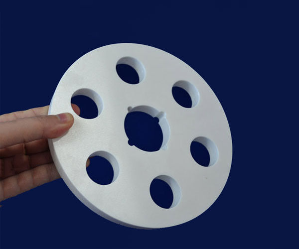 Alumina Ceramic Disc Customizable Polishing Flanges For Electrical Insulation