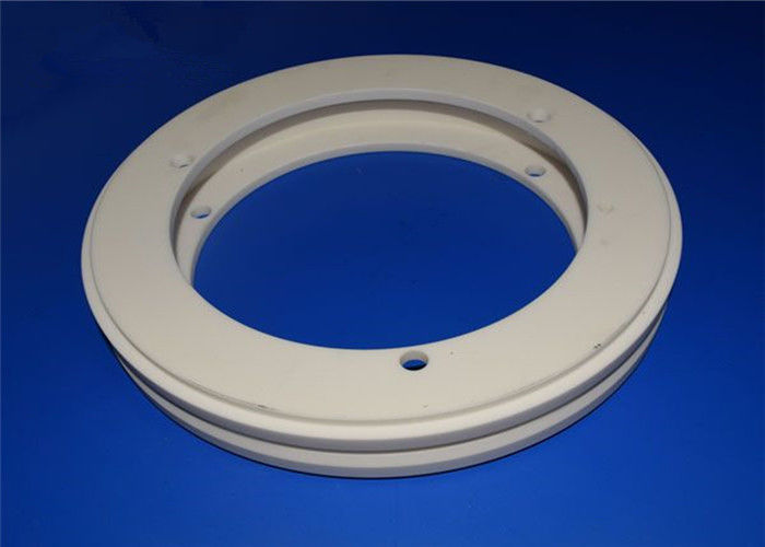Stabilized Zirconia ZrO2 Ceramic Seal Rings Big Diameter With Wear Resistant Material