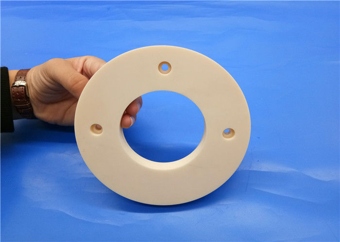 Precision 95%-99.7% Alumina Ceramic Flange Ring / Flange Pump / Insulating Flange