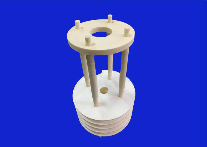 High Temperature Resistant Alumina Ceramic Parts Vertical Wafer Boat  With 25 Pcs Wafer Slot