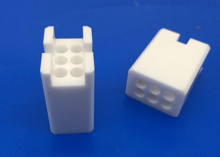 Insulation Zirconia Ceramic Guide Blocks Connector Seat With Holes / Ceramic Fittings