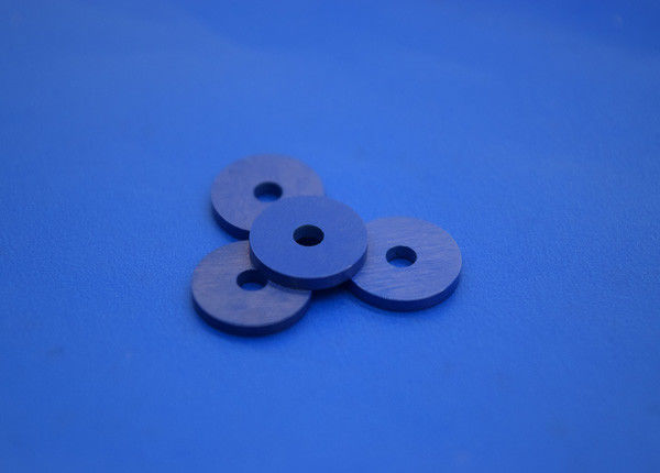 Blue Zro2 Zirconia Ceramic Parts , High Electric Pressure Washer Insulation Spacer